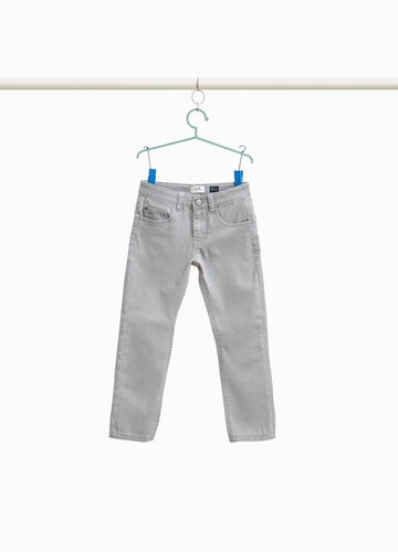Slim fit, stretch cotton blend trousers
