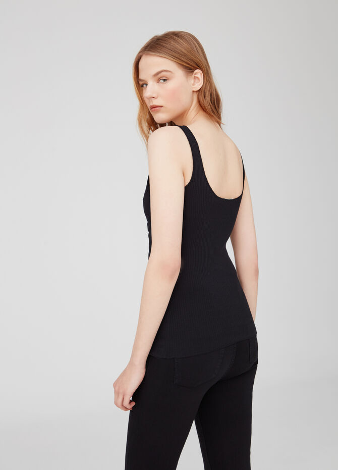 Earth Day tank top in ribbed biocotton