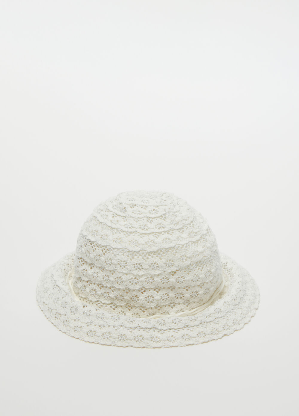 Bucket hat with floral embroidery
