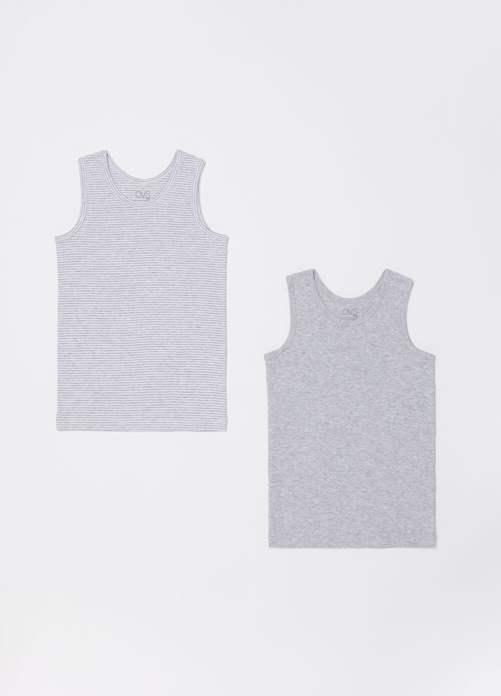 Two-pack vest tops with ribbing
