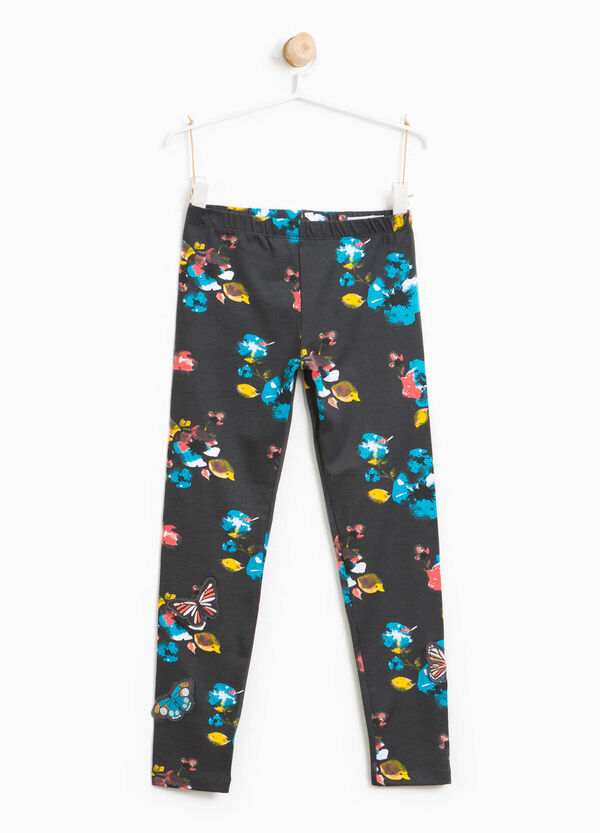 Leggings stampa floreale con patch | OVS