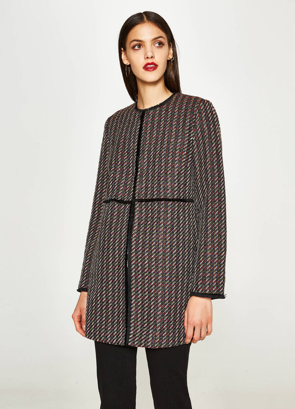 Coat with dotted weave | OVS