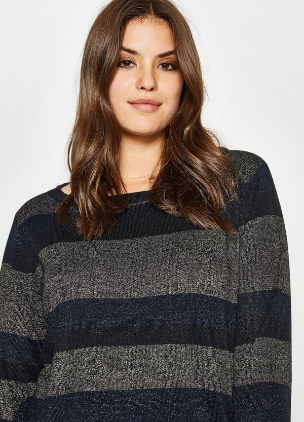 Curvy striped pullover with lurex   OVS