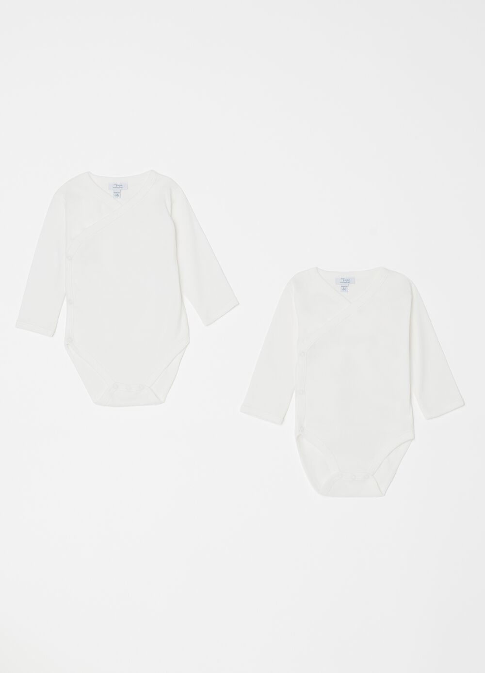 Two-pack bodysuits in 100% organic cotton