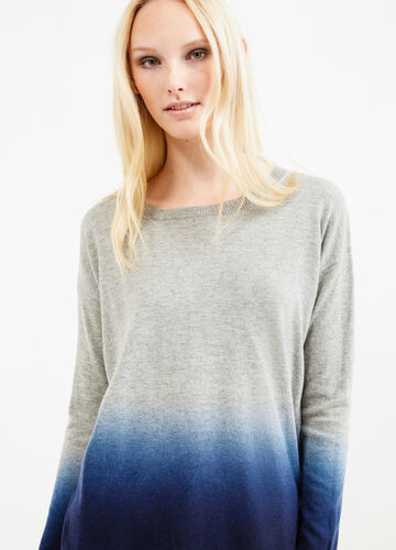 Degradé-effect, wool blend pullover