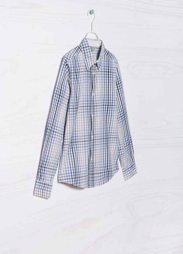 Check shirt in 100% cotton   OVS