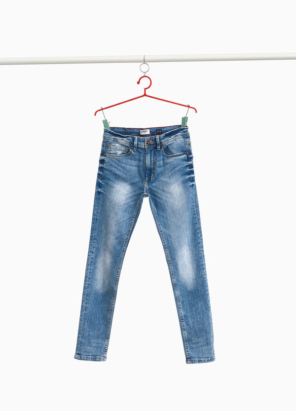 Jeans straight fit stretch used