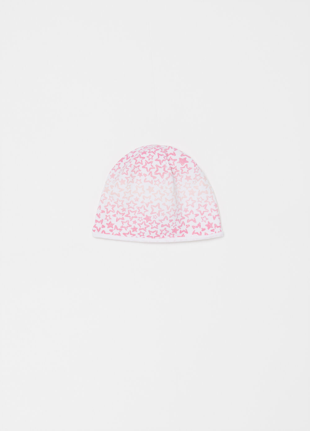 Cotton jersey beret with glitter stars