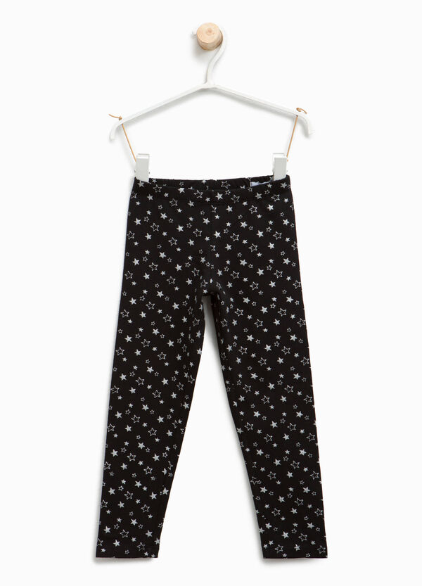 Star patterned cotton leggings | OVS