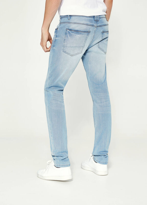 Skinny-fit stretch jeans with fading | OVS