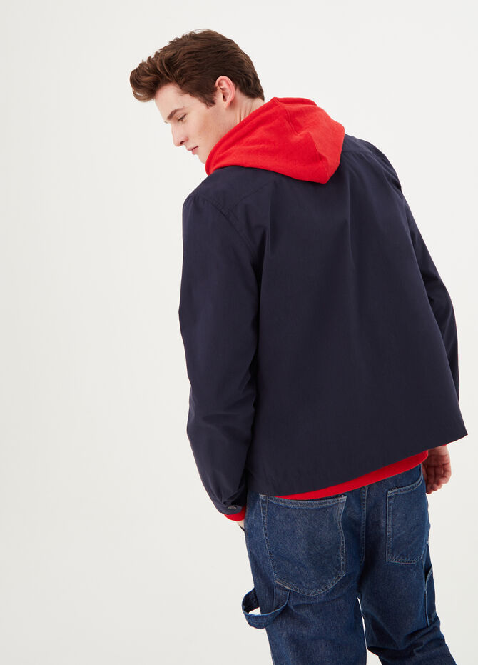 Solid colour jacket with collar
