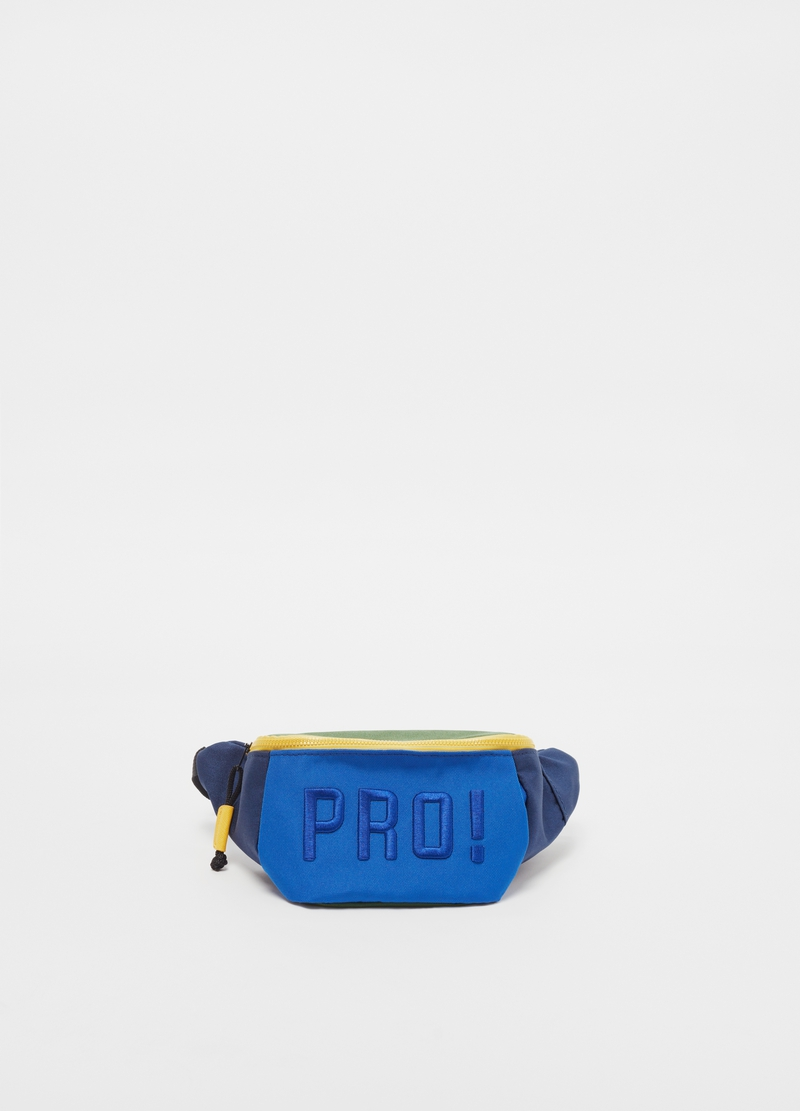 Colourblock bum bag with print image number null
