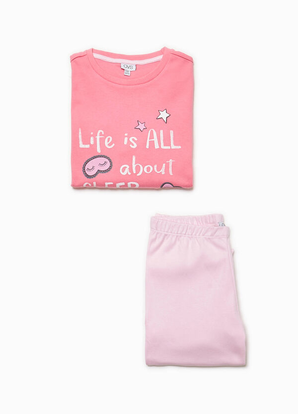 100% cotton pyjamas with lettering