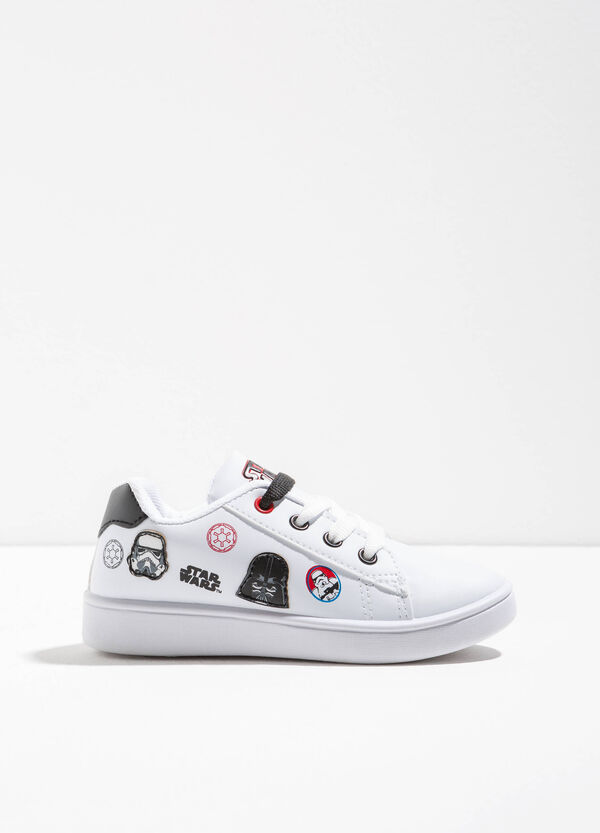 Sneakers with Star Wars print and patch