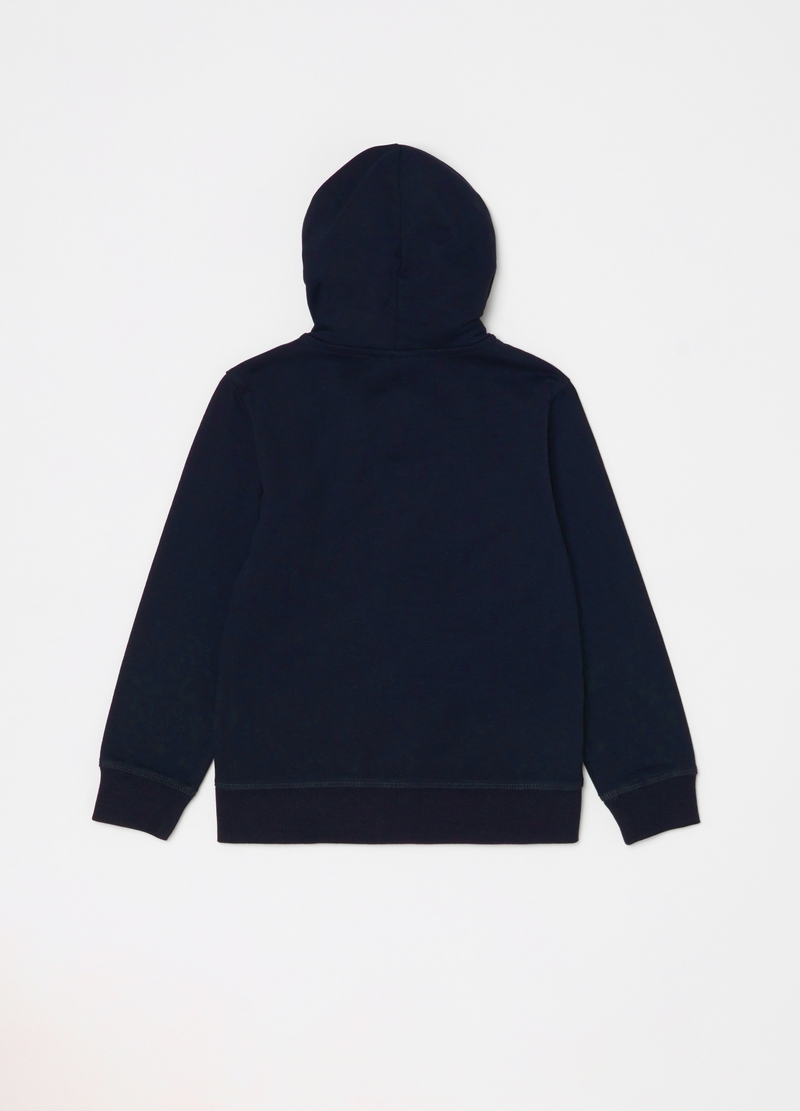 100% organic cotton sweatshirt with hood and zip image number null