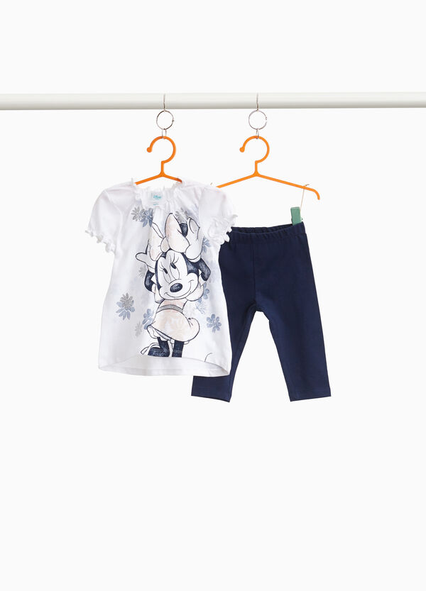 Stretch outfit with maxi Minnie Mouse print