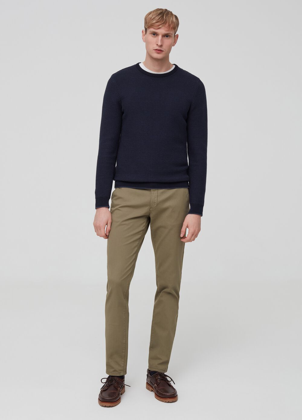 Slim-fit chino trousers in stretch cotton