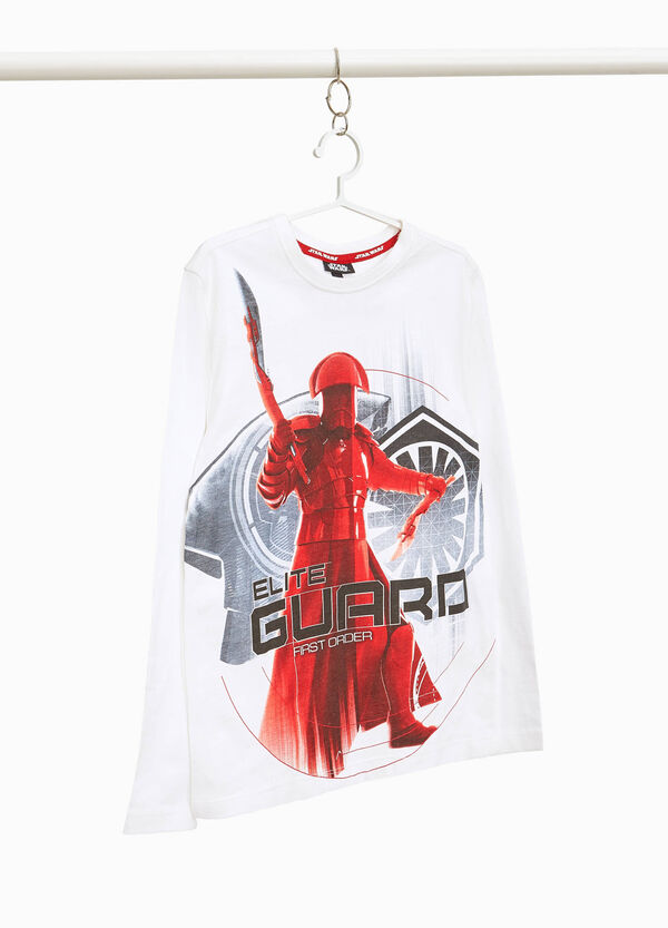100% cotton T-shirt with Star Wars maxi print