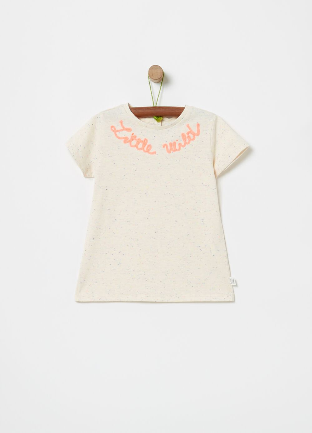T-shirt in organic jersey nappy with embroidery