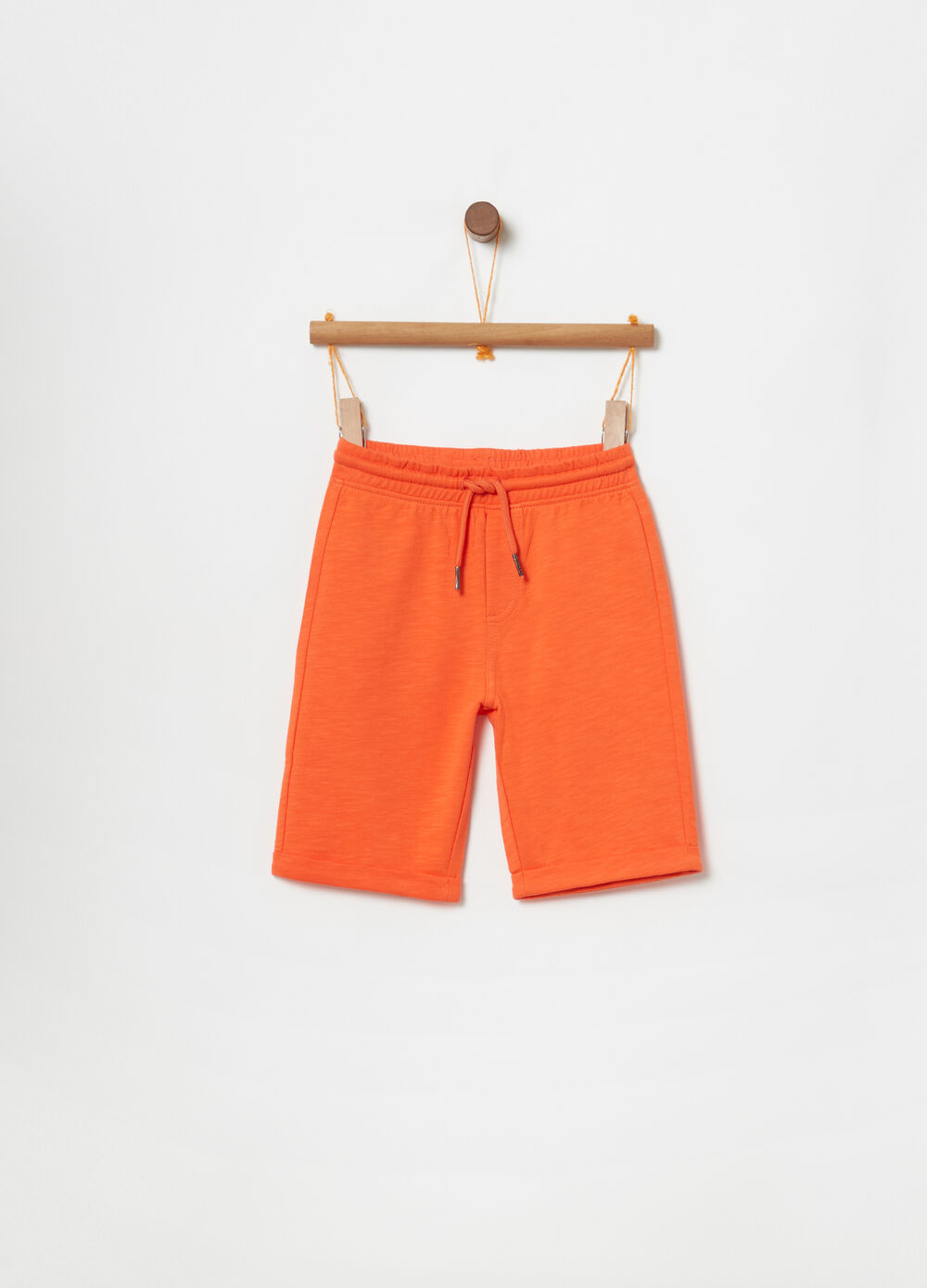 Shorts in felpa leggera con coulisse