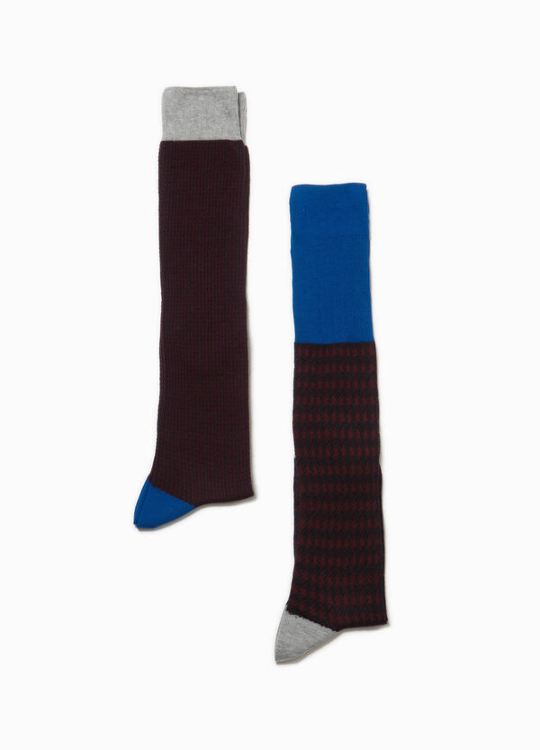 Two-pack long patterned socks