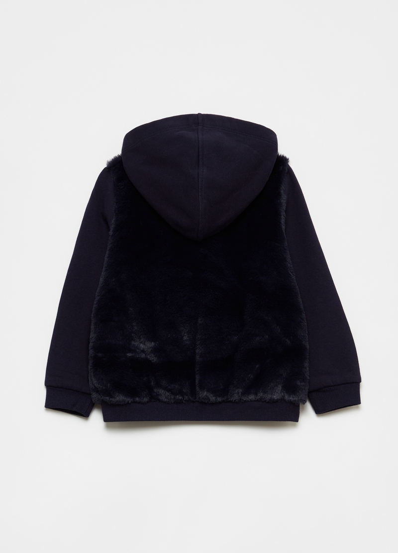 Sweatshirt with hood with faux fur image number null