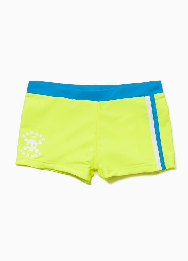 Solid Colour stretch swim boxer shorts