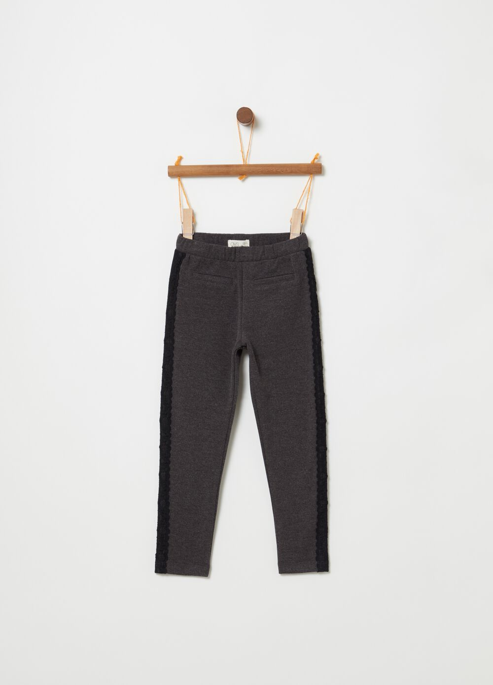 Mélange treggings with pockets