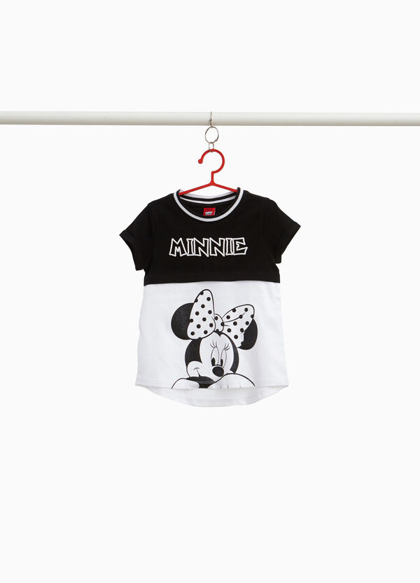 Two-tone Minnie Mouse T-shirt in stretch cotton