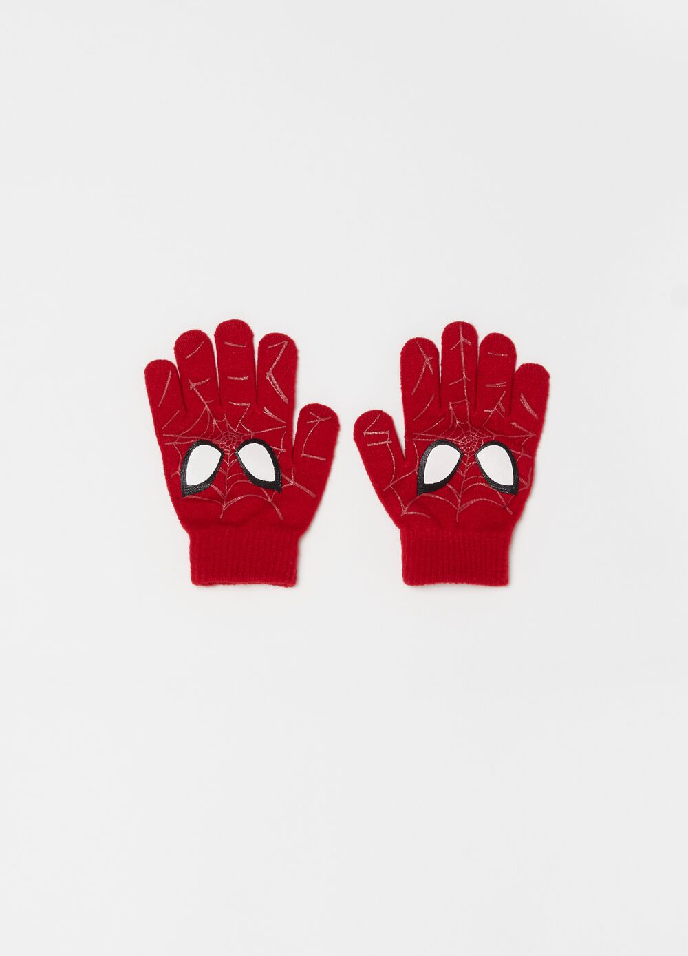 Knitted gloves with Marvel Spider-Man print