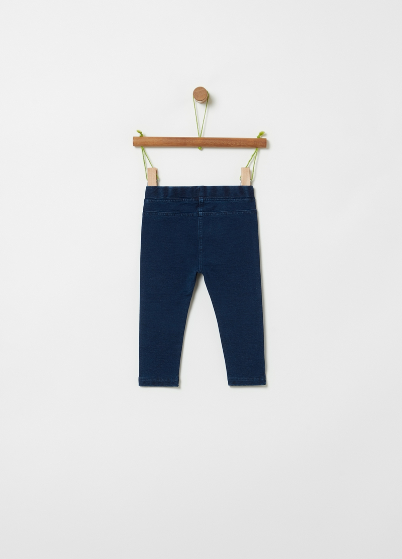 Jeggings in denim French Terry image number null
