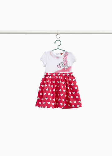 Dress with hearts and Tom & Jerry print