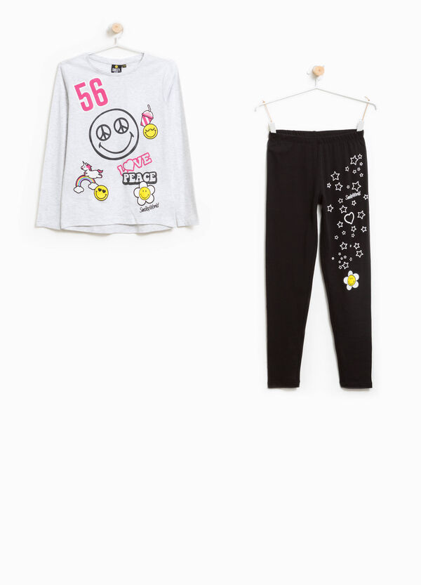 Pyjamas in 100% cotton with Smiley print | OVS