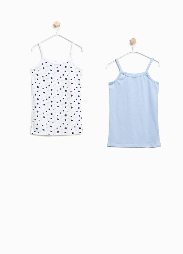 Set of two organic cotton under tops with stars | OVS