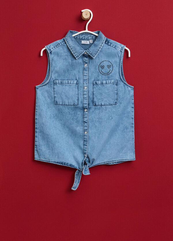 Sleeveless denim shirt | OVS