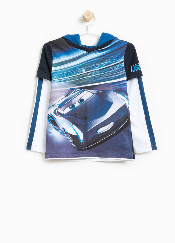 T-shirt with hood and maxi Cars print | OVS