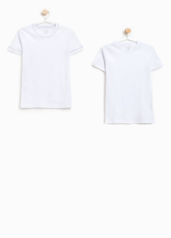 Two-pack organic cotton undershirts