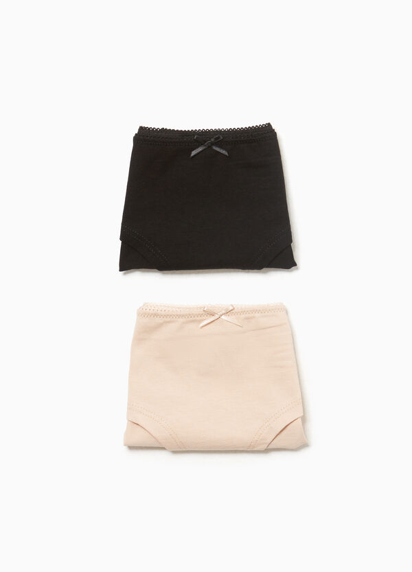 Two-pack stretch cotton French knickers