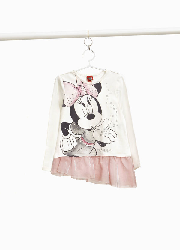 Minnie Mouse print T-shirt with flounce