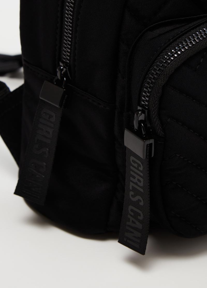 Quilted backpack with pocket image number null