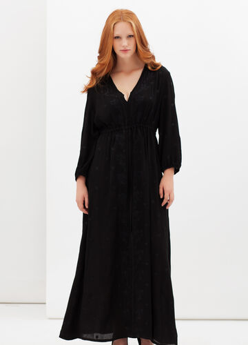 Curvyglam long dress with belt