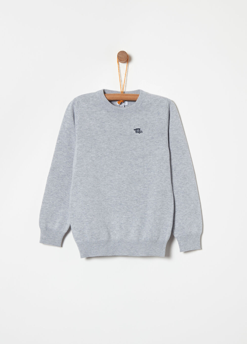 Cotton pullover with embroidered detail