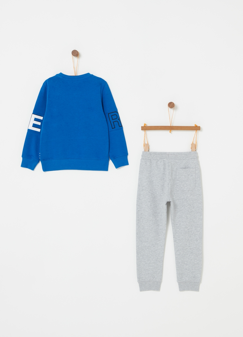 French terry jogging set with lettering image number null