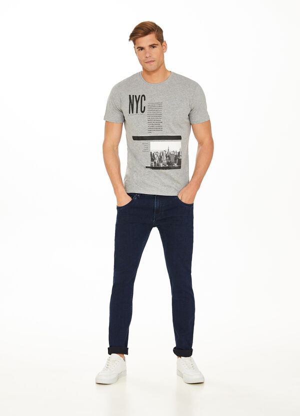 100% cotton T-shirt with New York print
