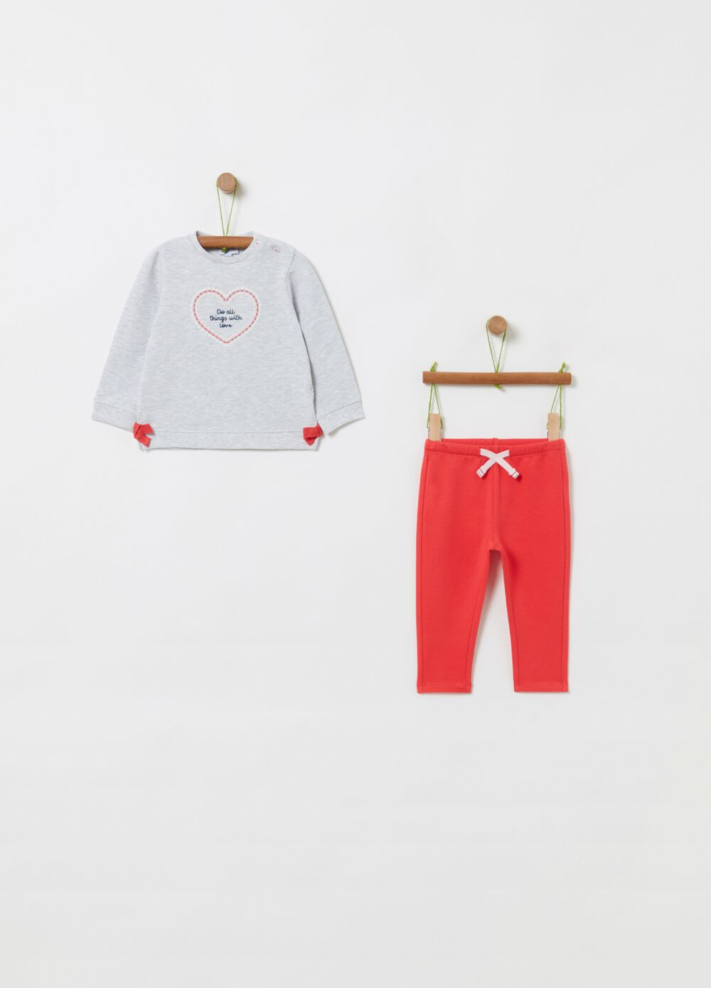 Stretch organic cotton jogging set