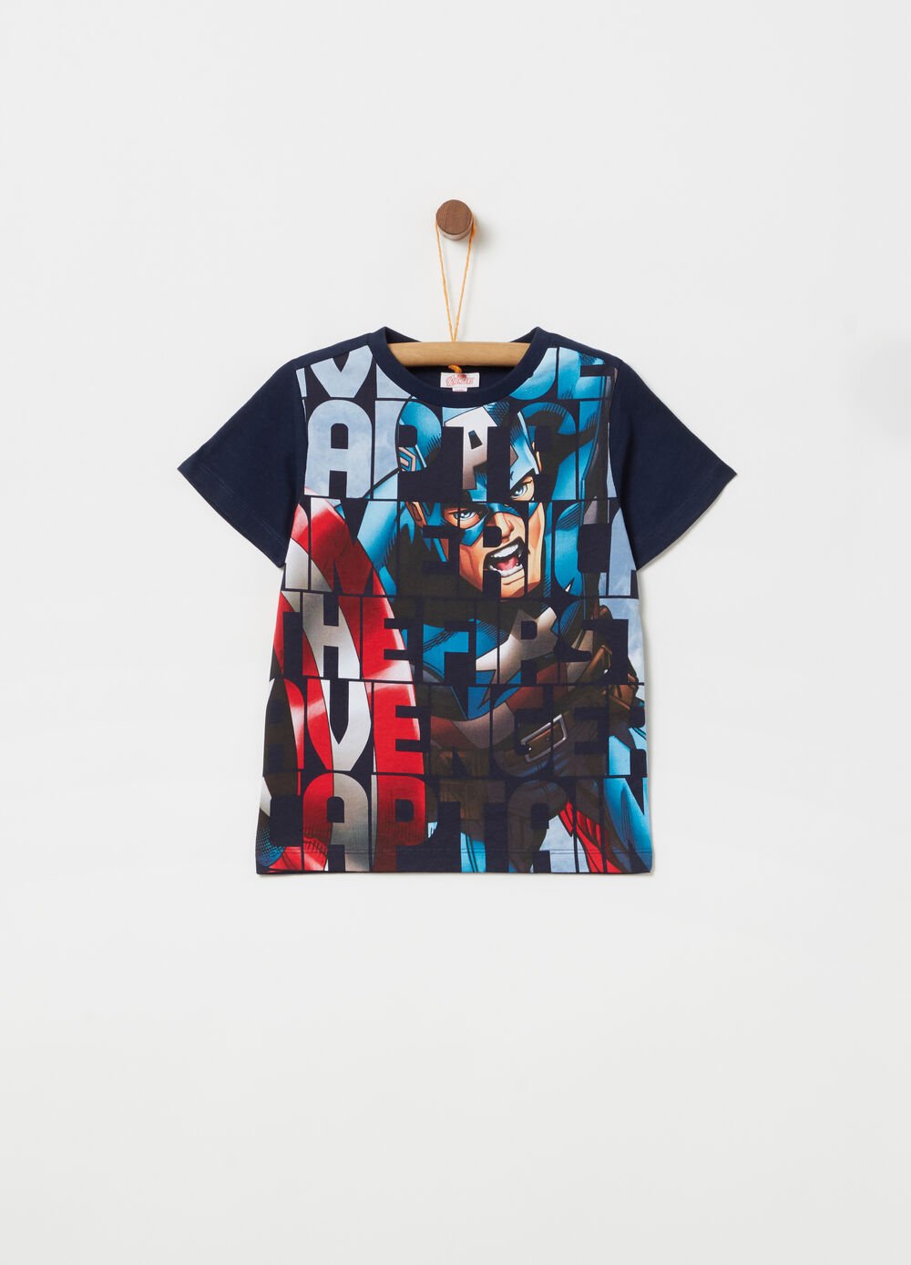 Marvel Avengers T-shirt with ribbing