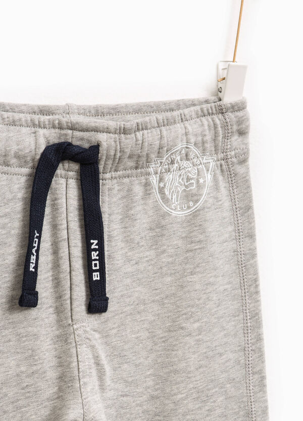 Joggers with drawstring and print | OVS