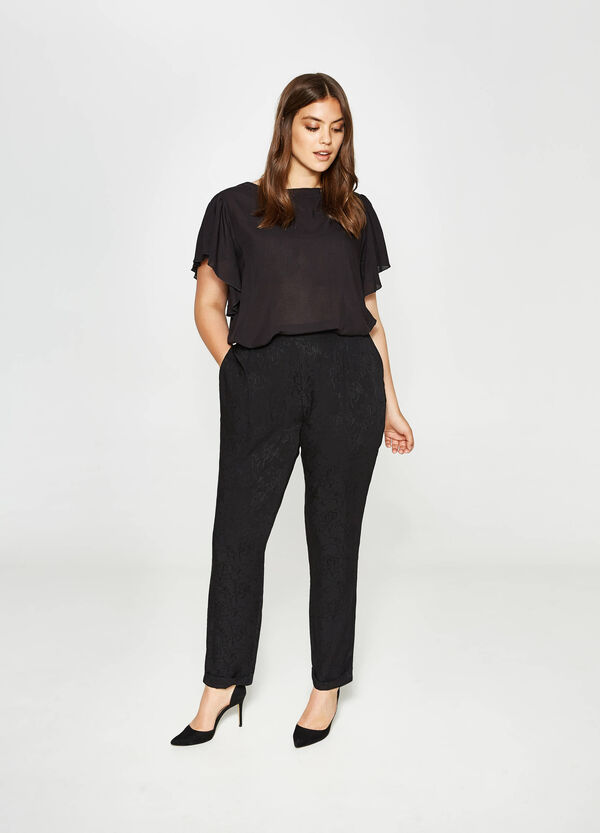 Curvy relaxed-fit floral trousers   OVS