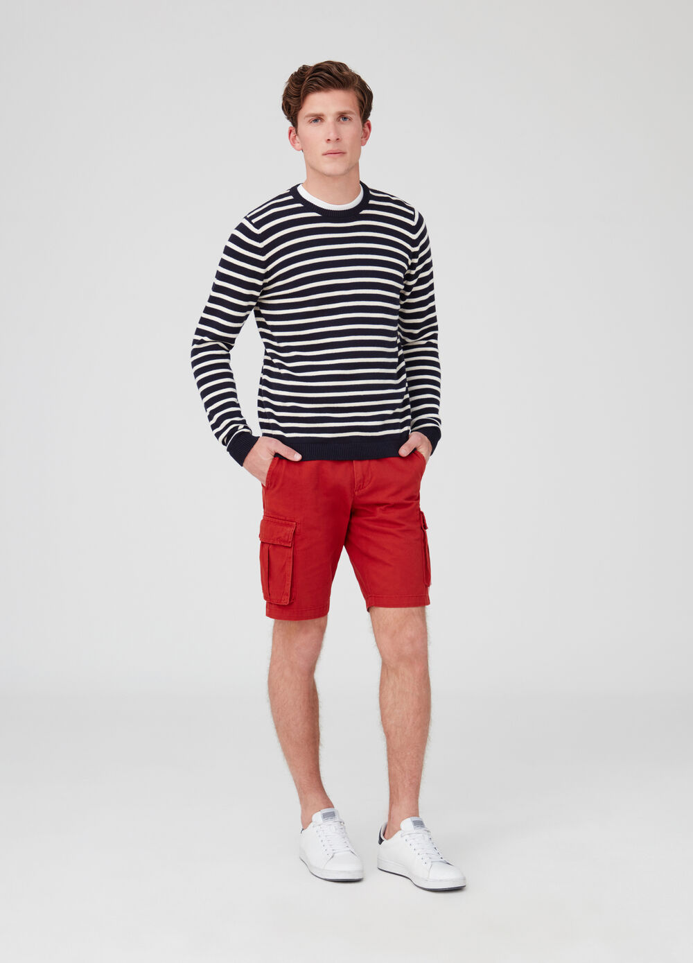 Regular-fit, cargo Bermudas