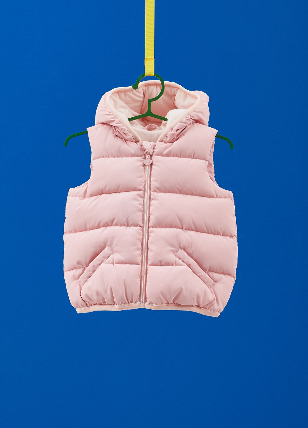 Gilet with hood and ears